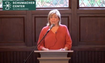 Mary Berry – Les motivations de la lutte du Berry Center pour la survie des petites fermes familiales – «Le bon travail, est source d'adhésion»- Conférence du Centre Shumacher