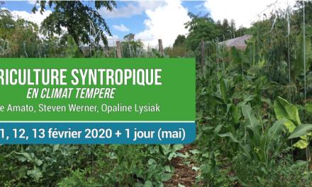 OPALINE LYSIAK / FELIPE AMATO / STEVEN WERNER : FORMATION AGRICULTURE SYNTROPIQUE EN CLIMAT TEMPERE DU 10 AU 13 FEVRIER A CASTETS EN DORTHE (33)
